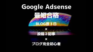 【Google AdSense】ブログ完全初心者がブログ歴3日×投稿2記事で合格!【グーグルアドセンス】